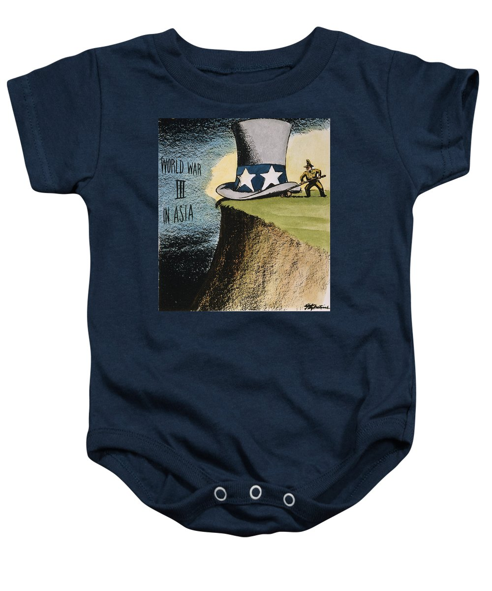 1951 Baby Onesie featuring the photograph Firing Of Macarthur by Granger