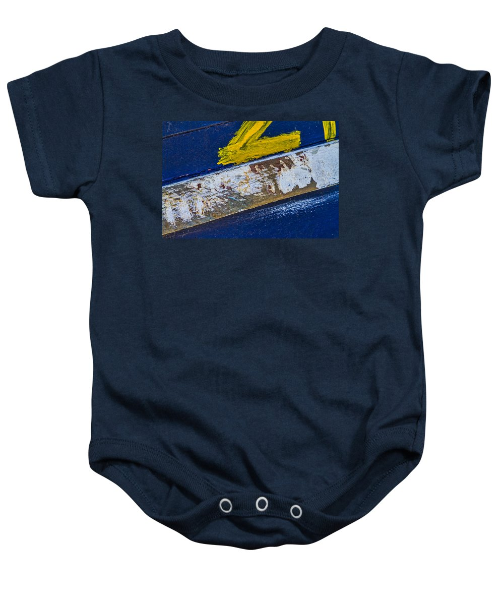 Boat Baby Onesie featuring the photograph Fishing Boat Abstract by Lindley Johnson