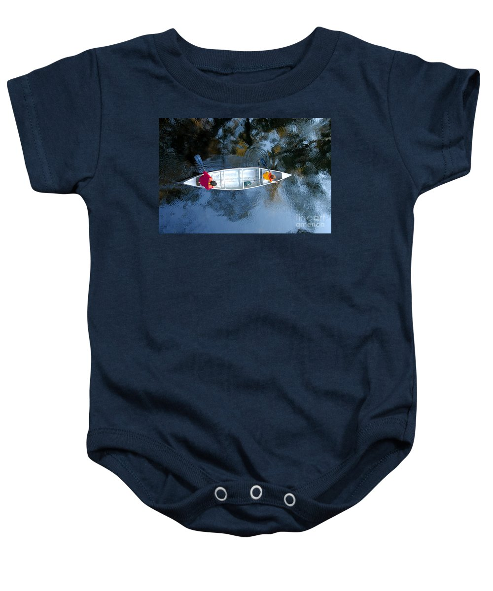 Father Baby Onesie featuring the photograph Fishing Trip by David Lee Thompson