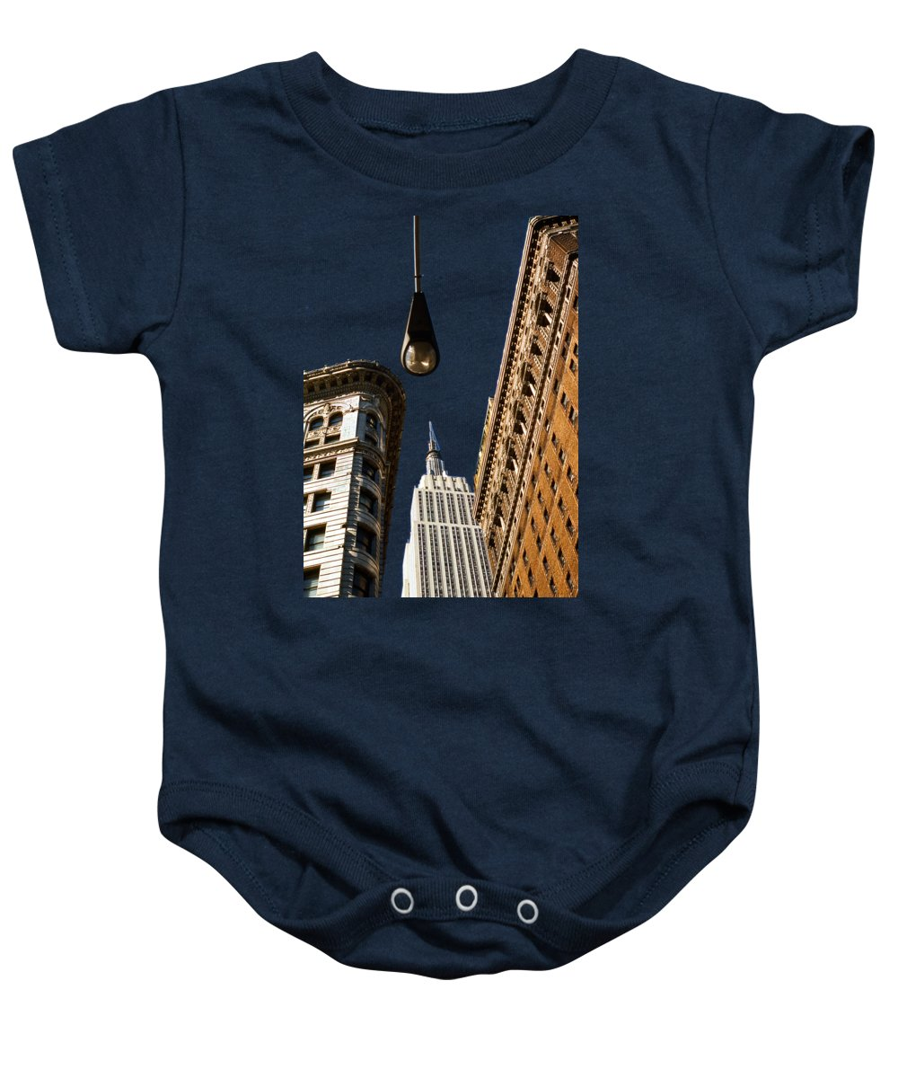 New York City Skyline Photographs Baby Onesies