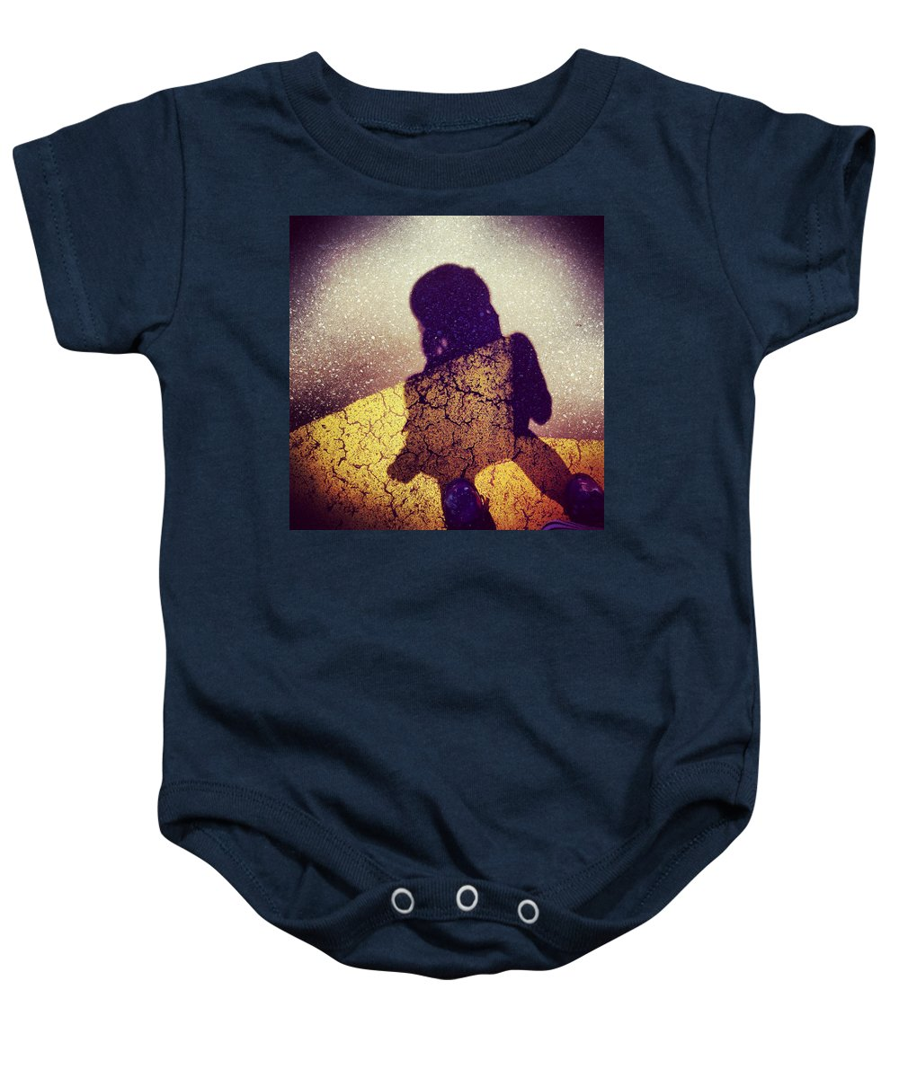 Photograph Baby Onesie featuring the photograph Followers by Kelly King