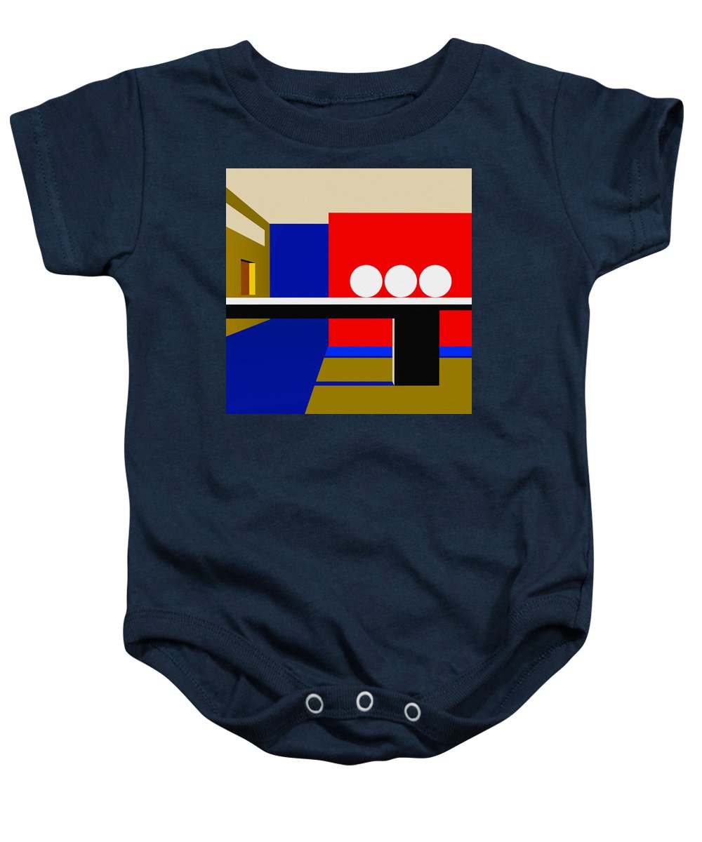 Abstract Baby Onesie featuring the digital art Following Through by Richard Rizzo