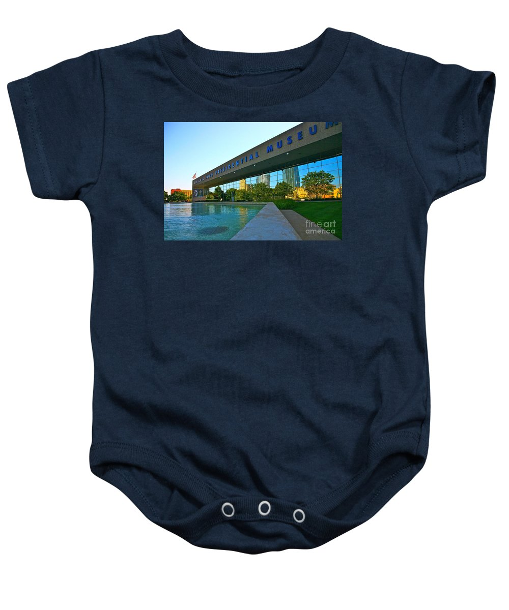 Ford Museum Baby Onesie featuring the photograph Ford Presidential Museum by Robert Pearson