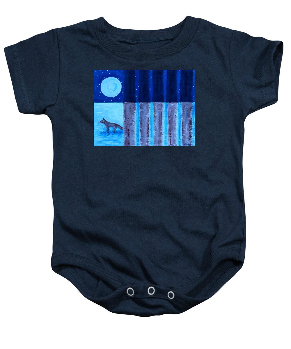 Landscapes Baby Onesie featuring the painting FOX by Patrick J Murphy