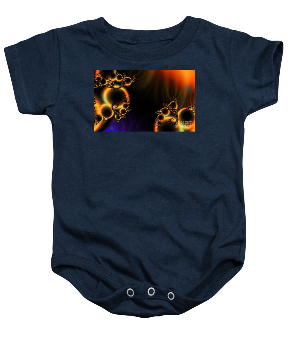 Clay Baby Onesie featuring the digital art Fractalscape I by Clayton Bruster