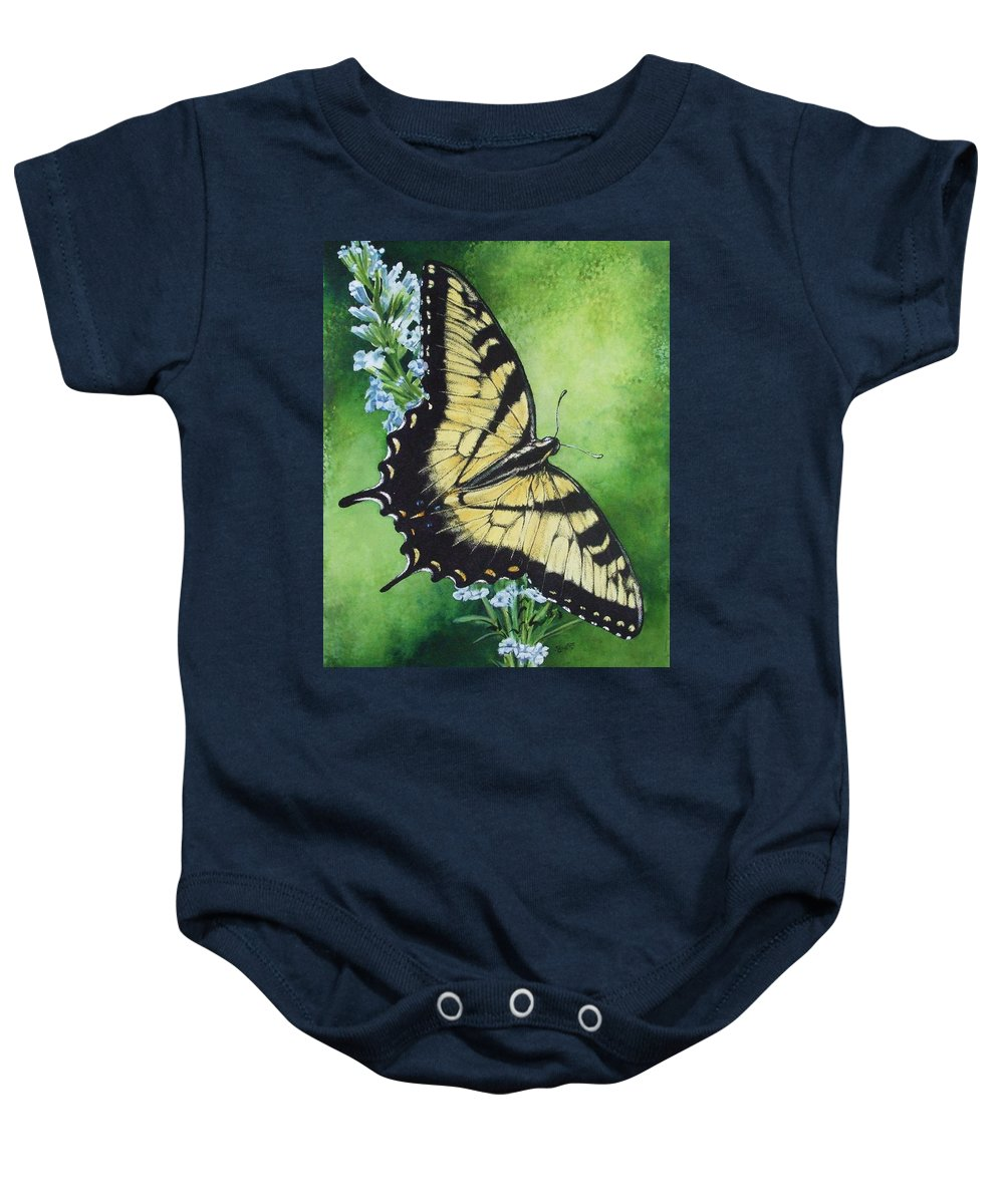 Bugs Baby Onesie featuring the mixed media Fragile Beauty by Barbara Keith