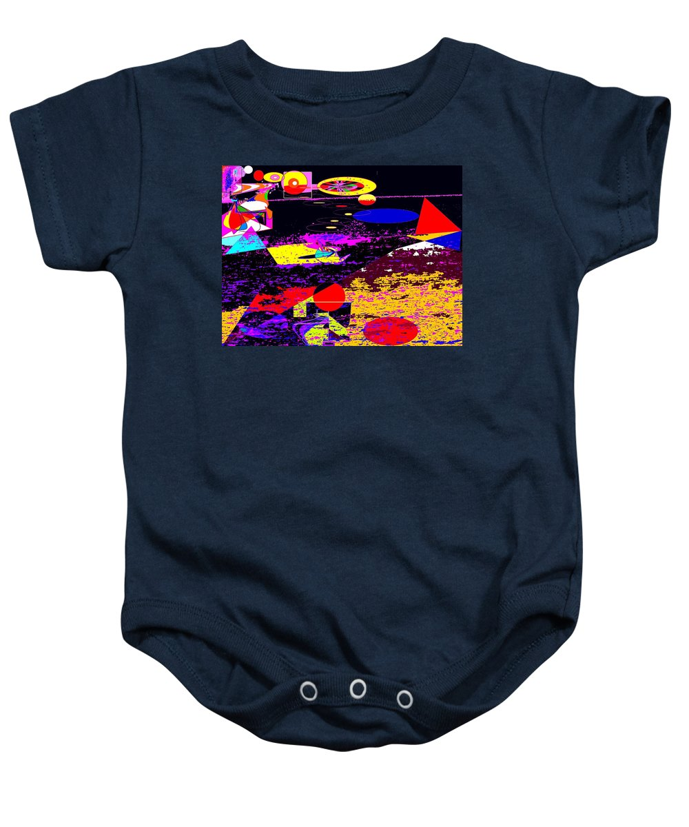 Abstract Baby Onesie featuring the digital art Galactic Voyages by Ian MacDonald