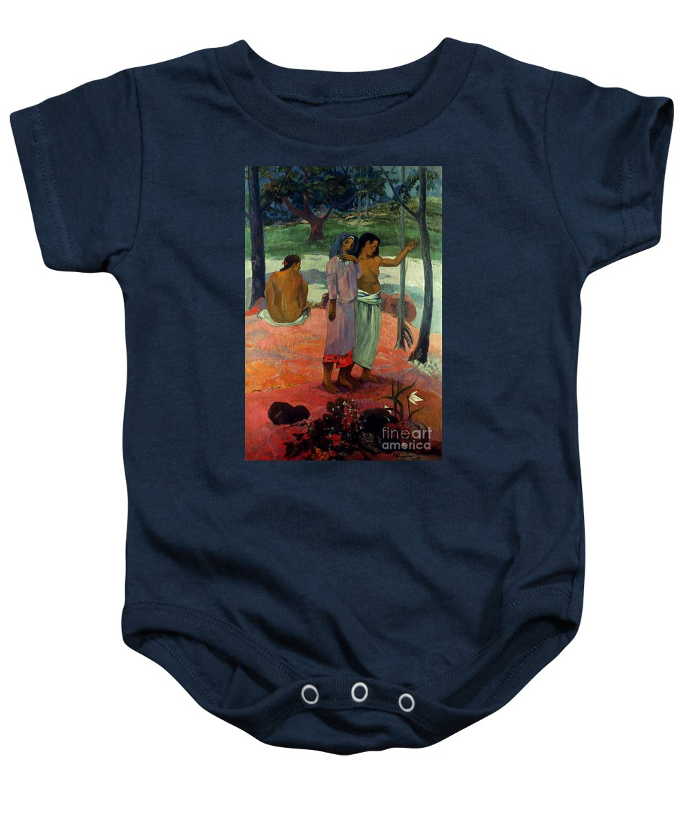 1902 Baby Onesie featuring the photograph Gauguin: Call, 1902 by Granger