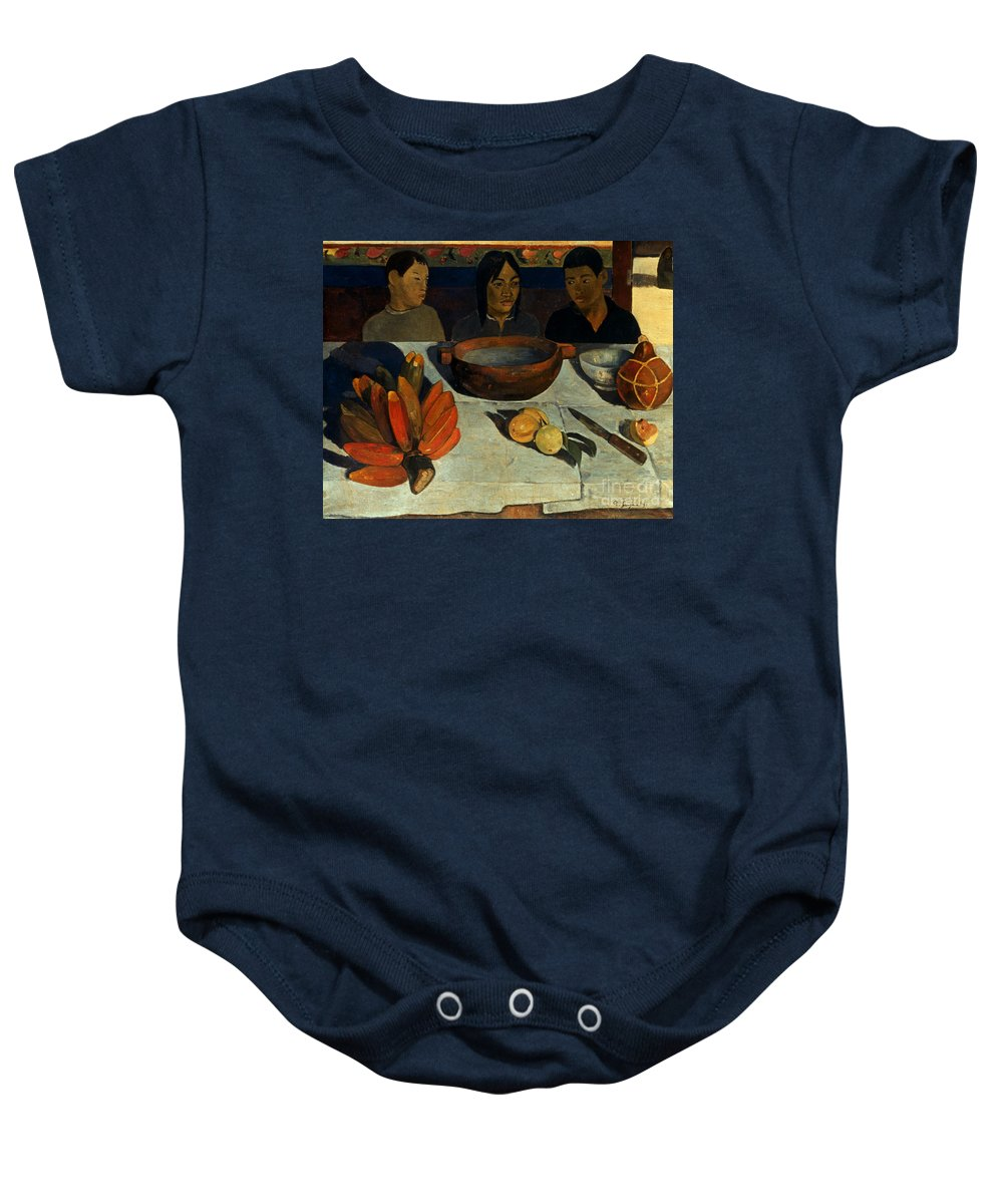 1891 Baby Onesie featuring the photograph Gauguin: Meal, 1891 by Granger