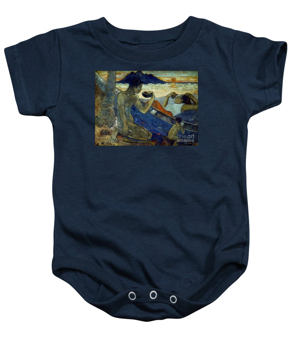 19th Century Baby Onesie featuring the photograph Gauguin: Pirogue, 19th C by Granger