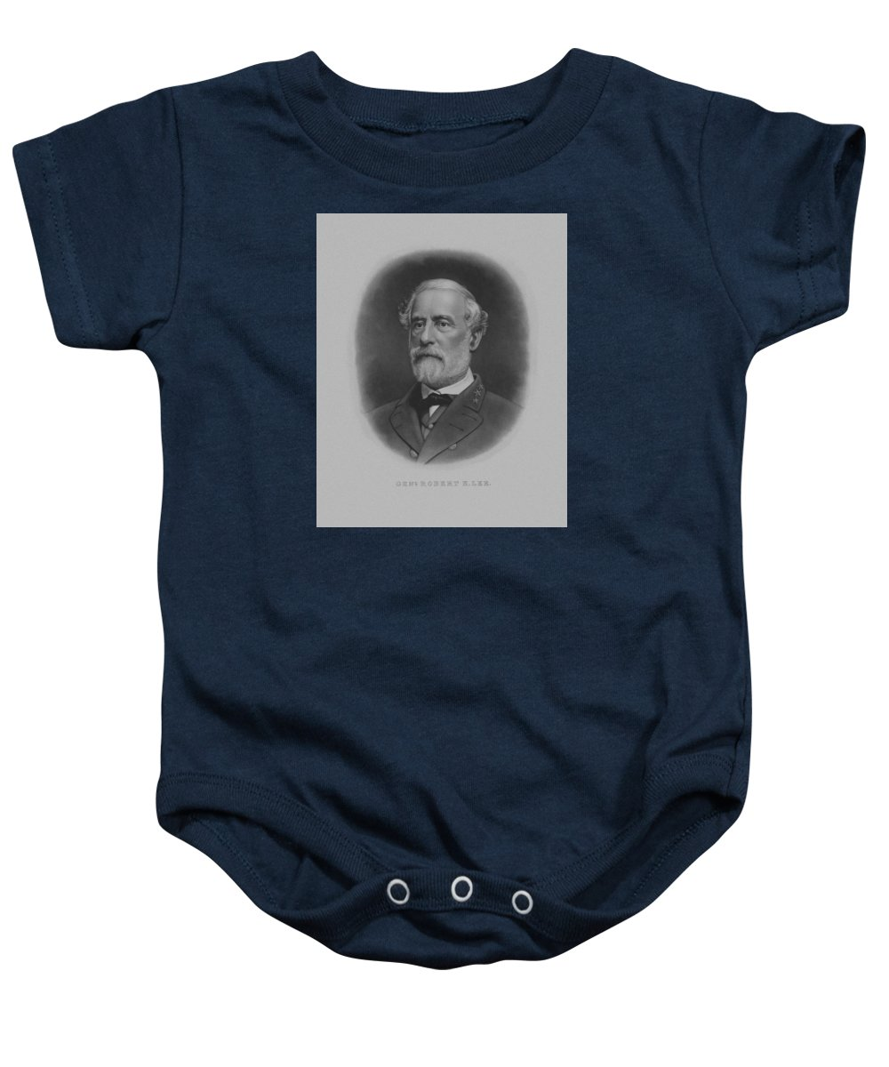 General Lee Baby Onesie featuring the painting General Robert E. Lee Print by War Is Hell Store