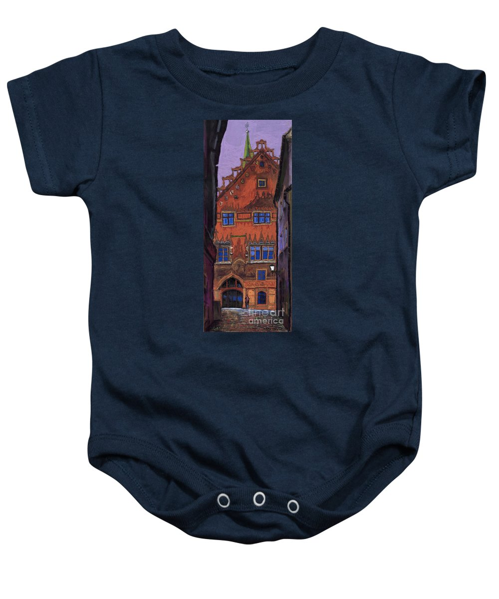 Pastel Baby Onesie featuring the painting Germany Ulm by Yuriy Shevchuk