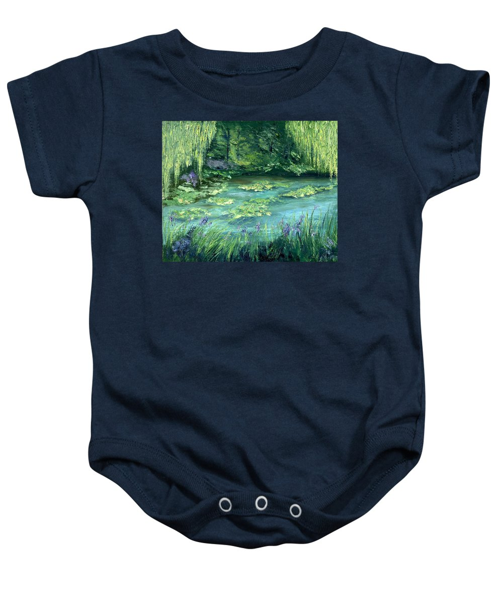 Giverny Baby Onesie featuring the painting Giverny by Gail Kirtz