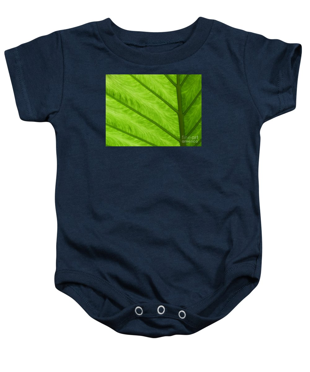 Leaf Baby Onesie featuring the photograph Green by Ann Horn