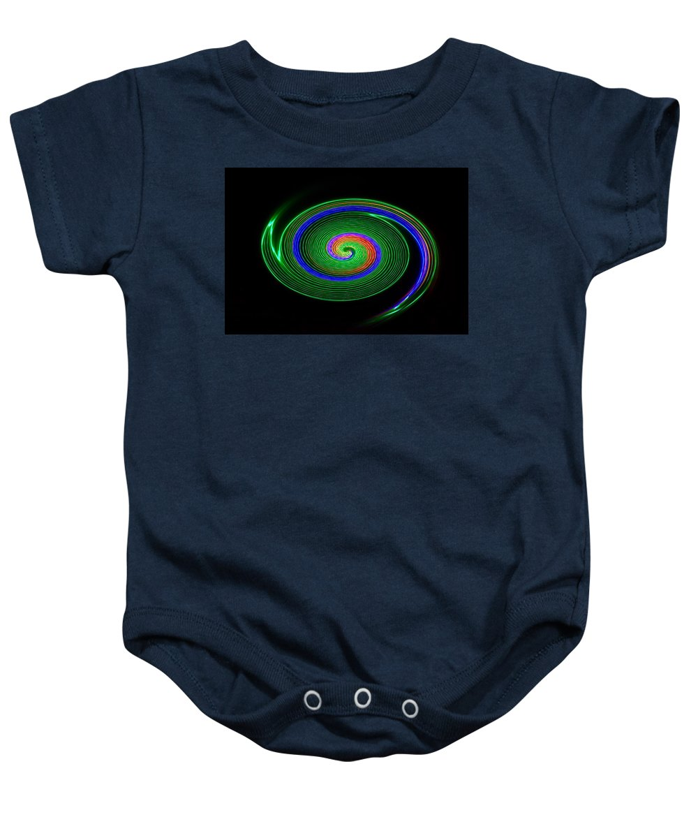 Green Baby Onesie featuring the photograph Green Galaxy by David Lee Thompson