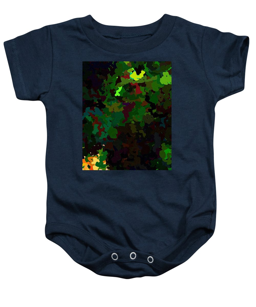 Style Baby Onesie featuring the digital art Green Horse Eating A Pear by April Patterson