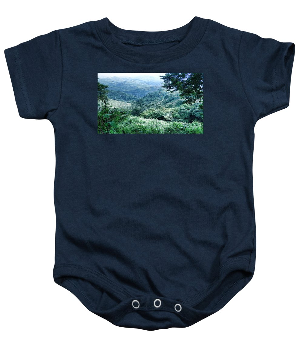 Baby Onesie featuring the photograph Green Valley by Galeria Trompiz
