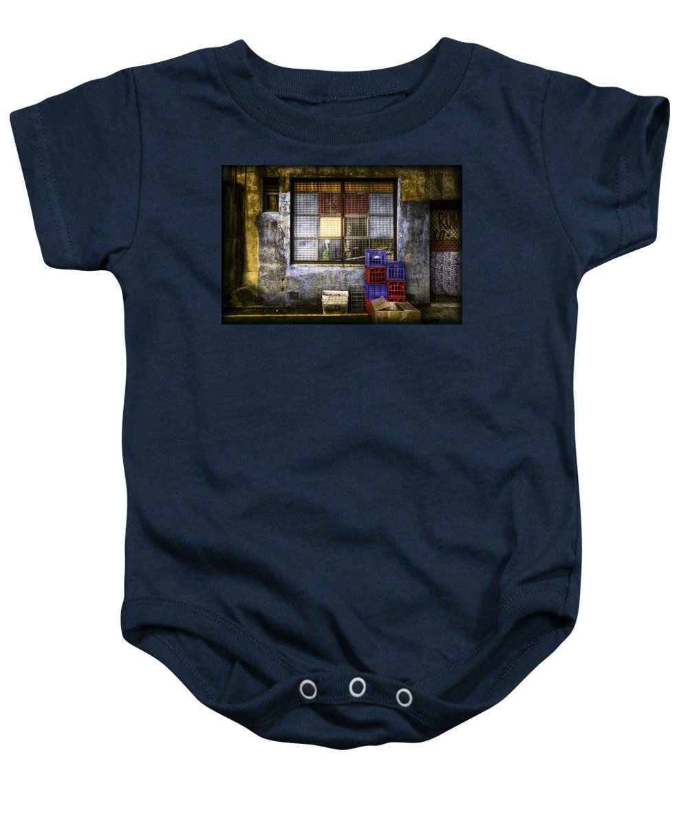 Grunge Baby Onesie featuring the photograph Grunge Dept by Wayne Sherriff
