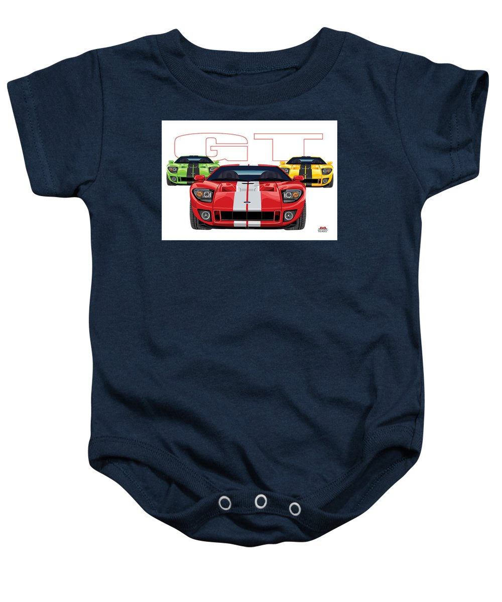 Baby Onesie featuring the digital art Gt Run by DARRYL McPHERSON