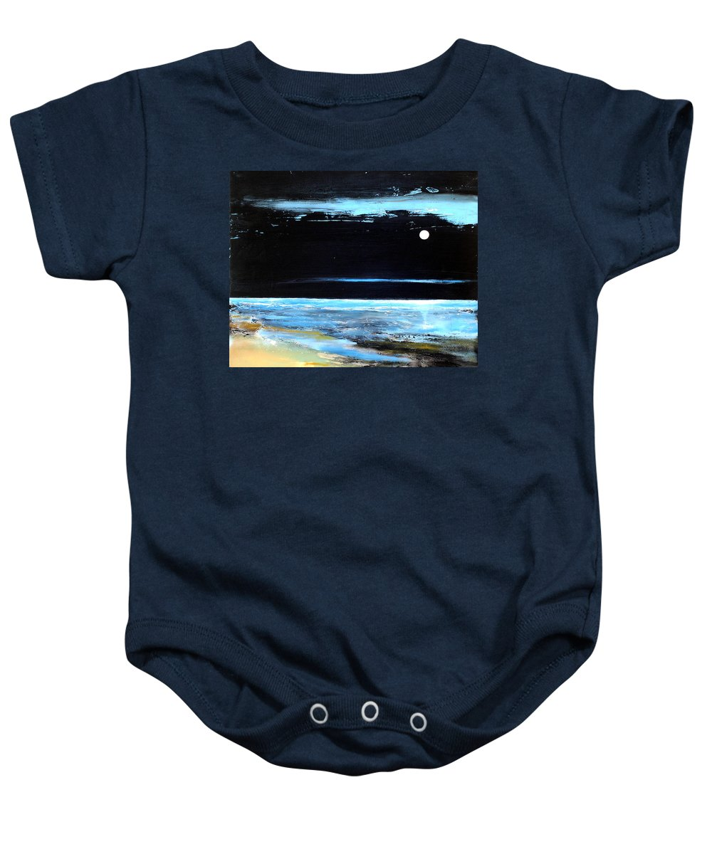 Landscape Baby Onesie featuring the painting Guiding Light by Toni Grote