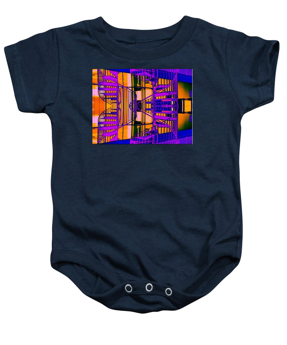 Staircase Baby Onesie featuring the photograph Gym Staircase by Tim Allen