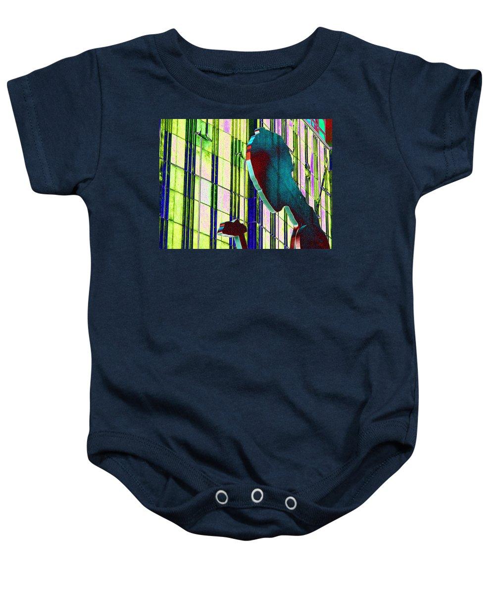 Seattle Baby Onesie featuring the digital art Hammering Man 3 by Tim Allen