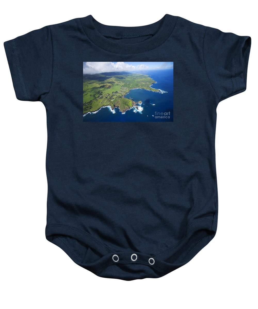 Aerial Baby Onesie featuring the photograph Hana Aerial by Ron Dahlquist - Printscapes