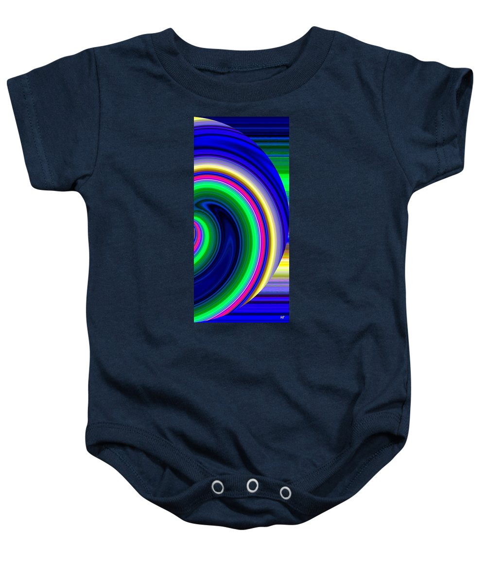 Abstract Baby Onesie featuring the digital art Harmony 19 by Will Borden