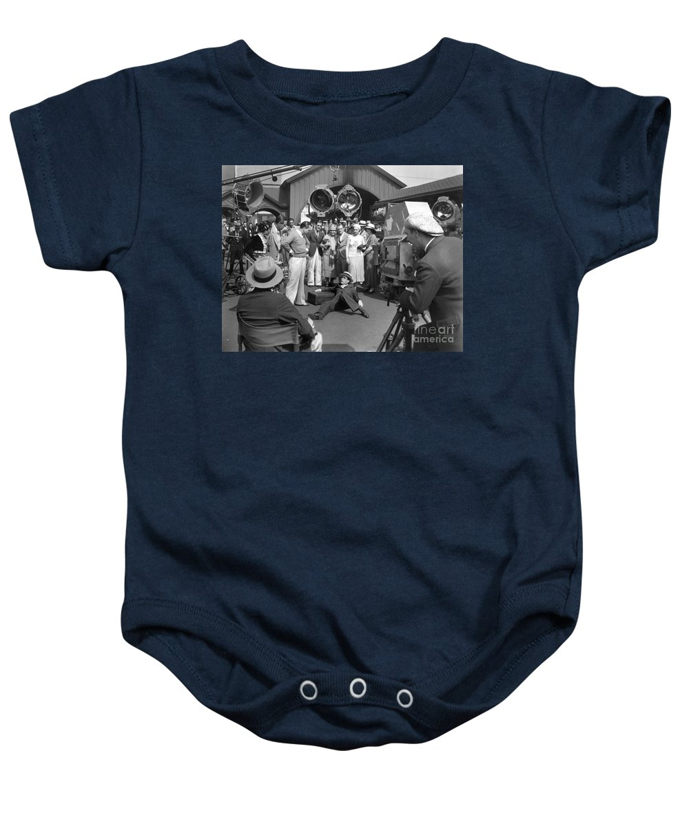 -ecq- Baby Onesie featuring the photograph Harold Lloyd (1893-1971) by Granger