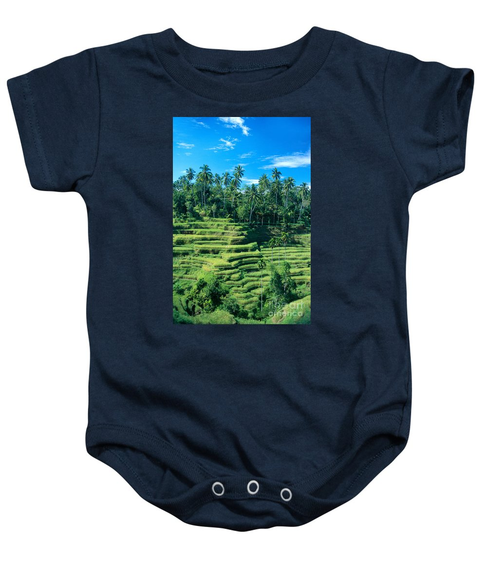 Agriculture Baby Onesie featuring the photograph Hillside In Indonesia by Gloria & Richard Maschmeyer - Printscapes