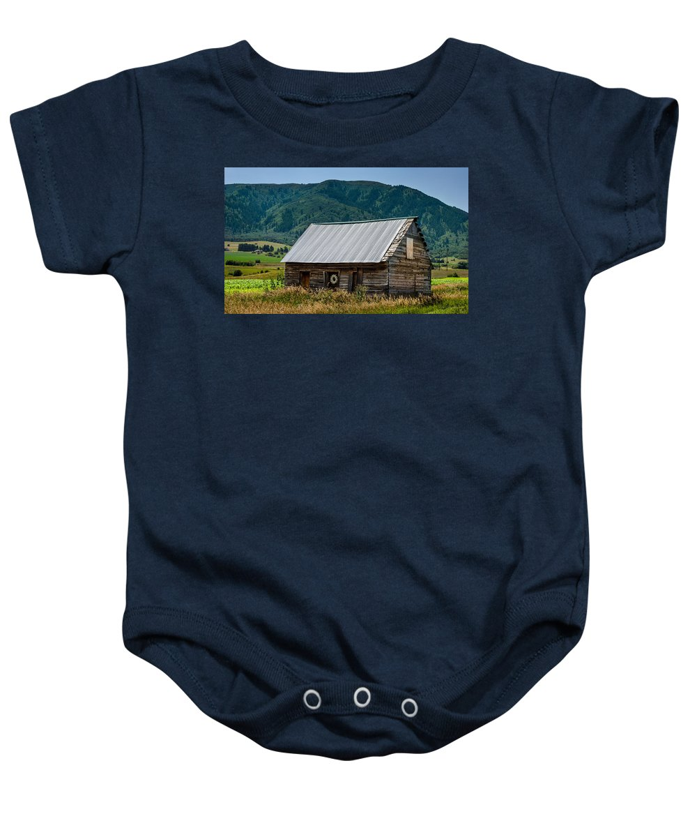 Home Baby Onesie featuring the photograph Home On The Range by Gary Mosman