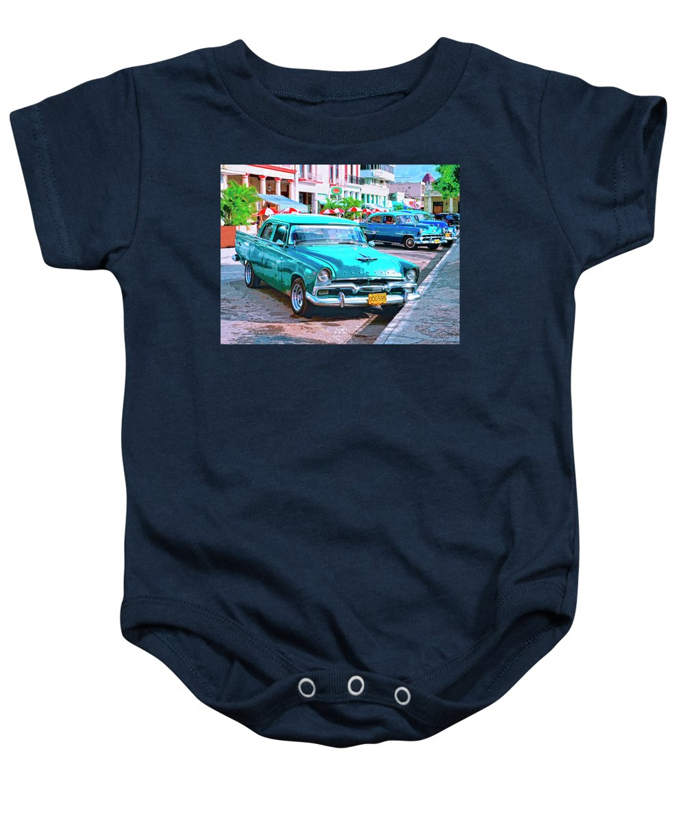 Hot Rod Baby Onesie featuring the mixed media Hot Rod by Dominic Piperata