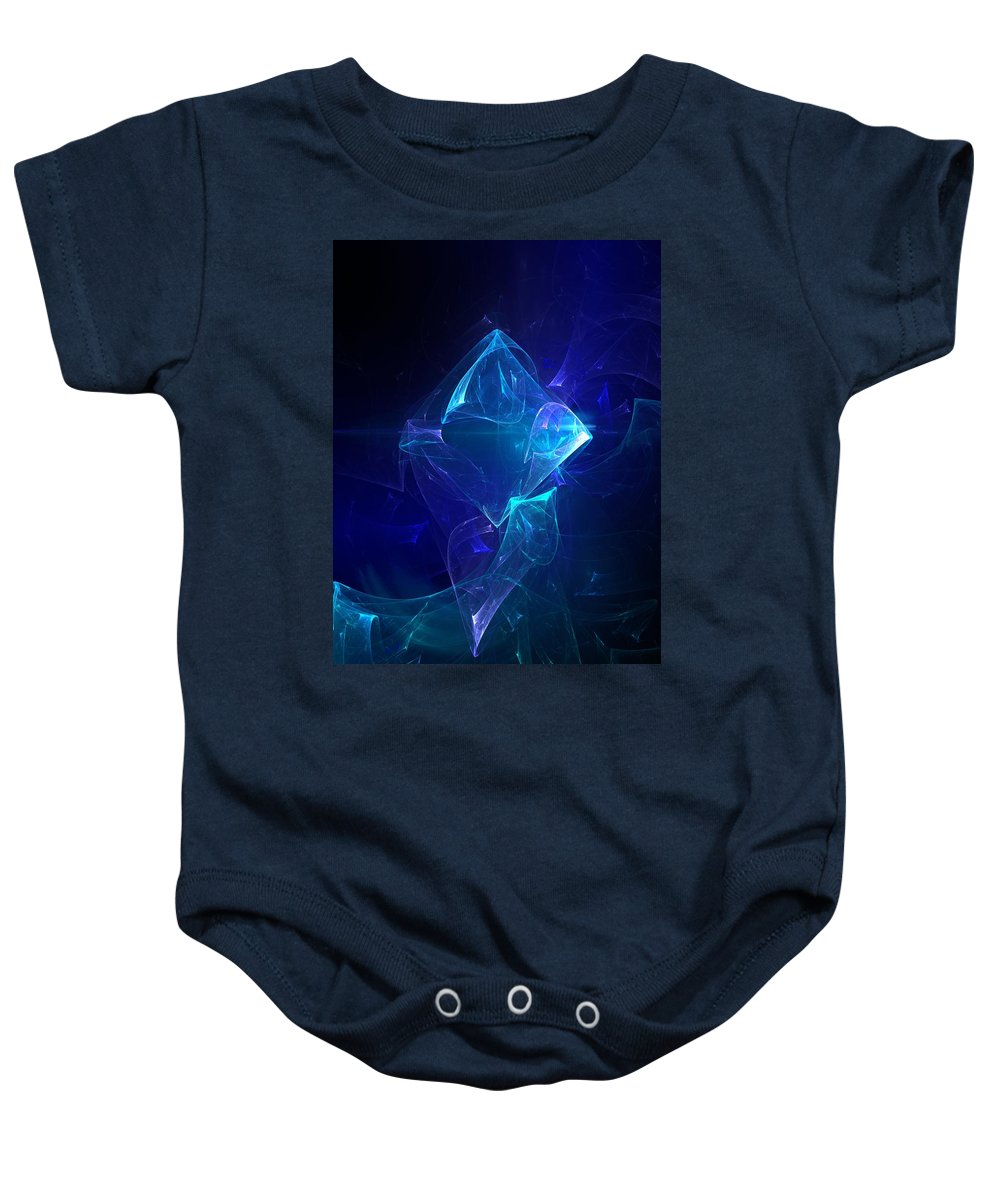 Abstract Digital Photo Baby Onesie featuring the digital art I Had Too Much To Dream Last Night by David Lane
