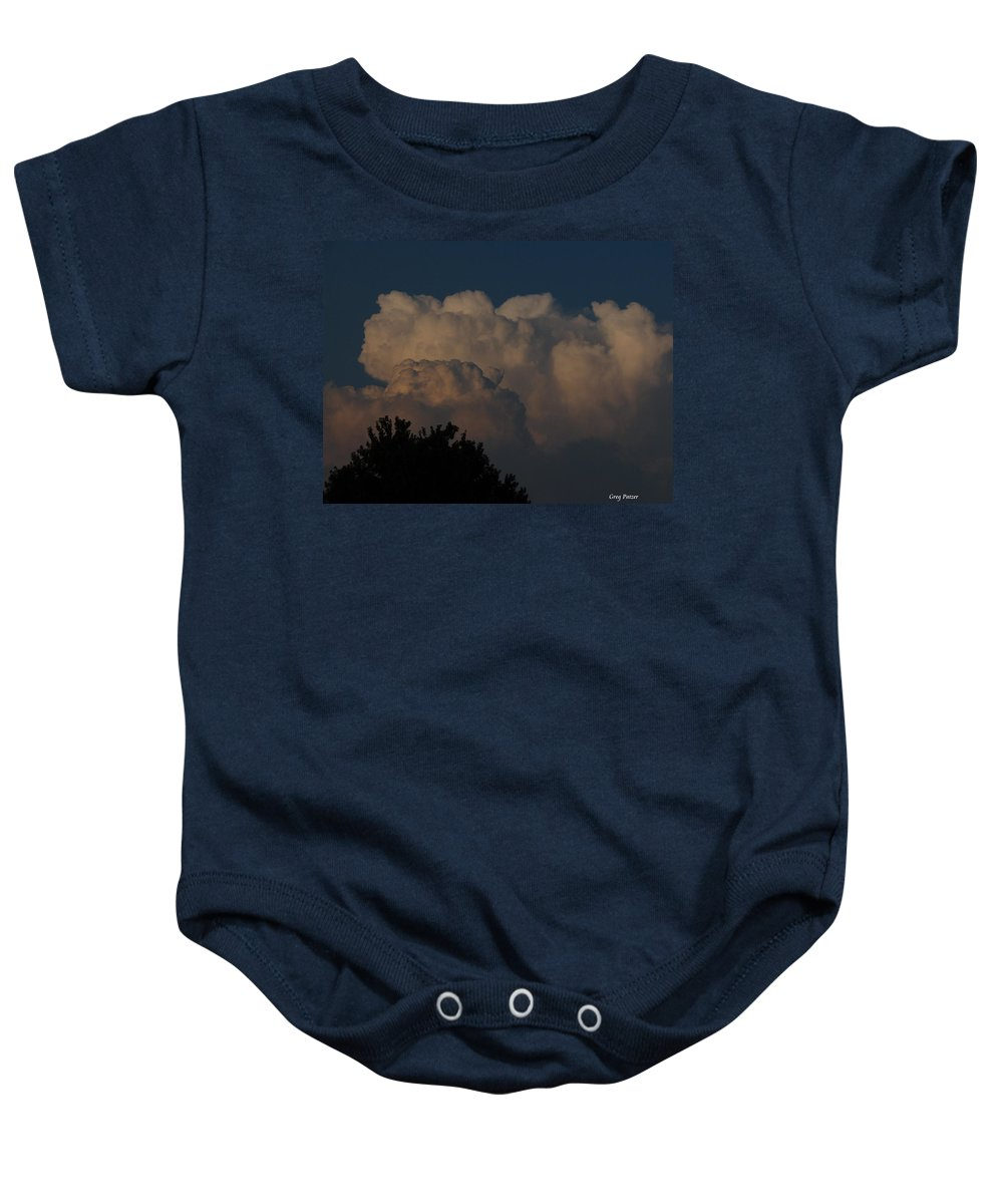 Patzer Baby Onesie featuring the photograph I Want To Ride by Greg Patzer