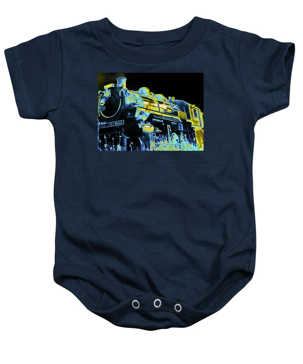 Impressions Baby Onesie featuring the digital art Impressions 11 by Will Borden