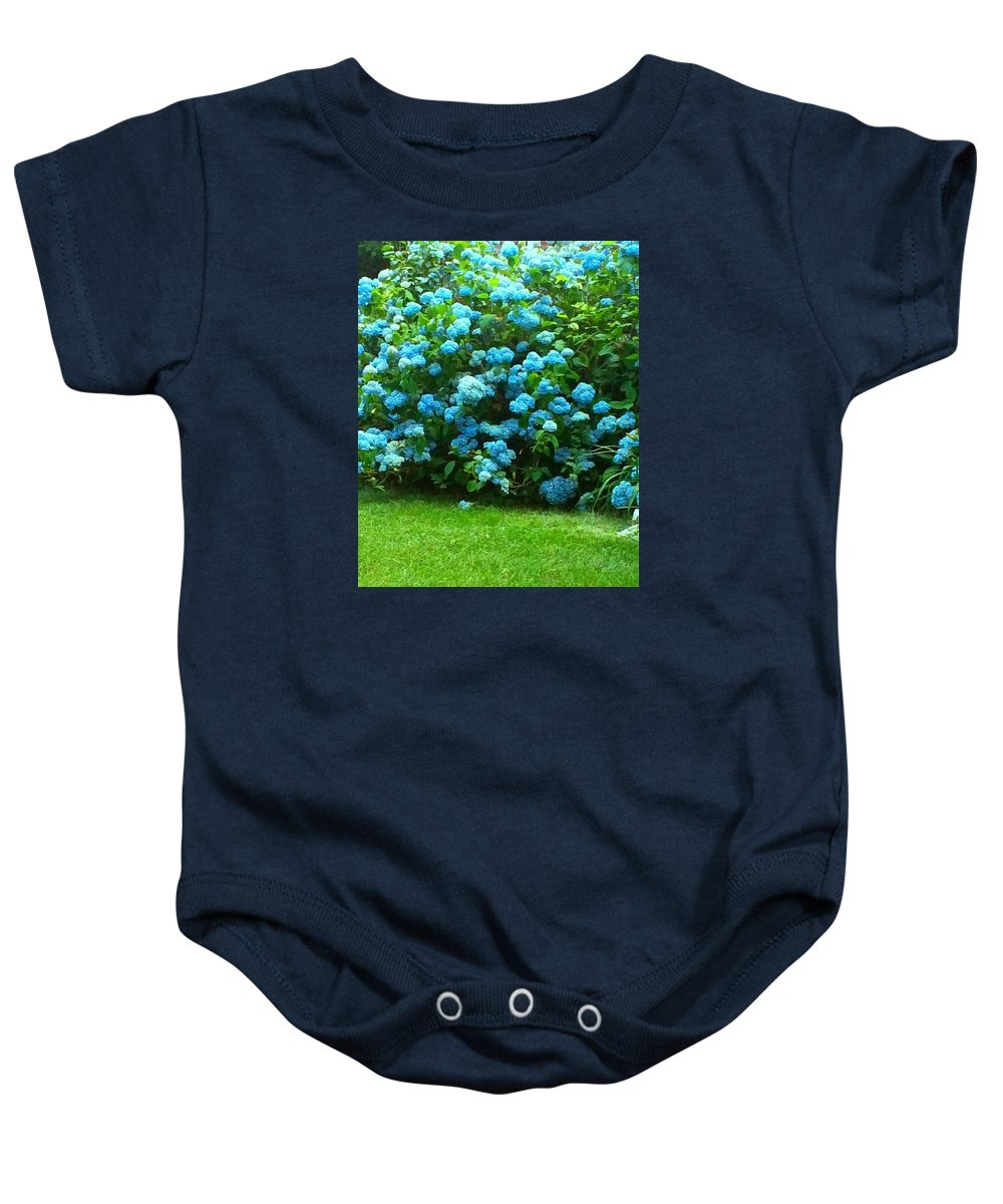 Landscape Baby Onesie featuring the photograph In Blue by Michelle Caraballo