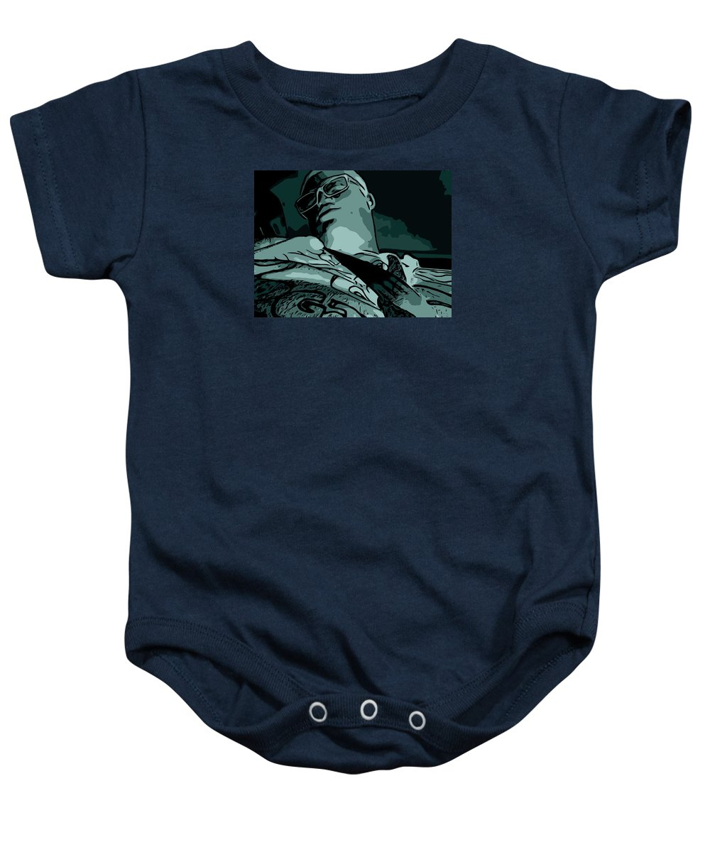 Abstract Baby Onesie featuring the digital art In The Abstract Cut by Nissy G