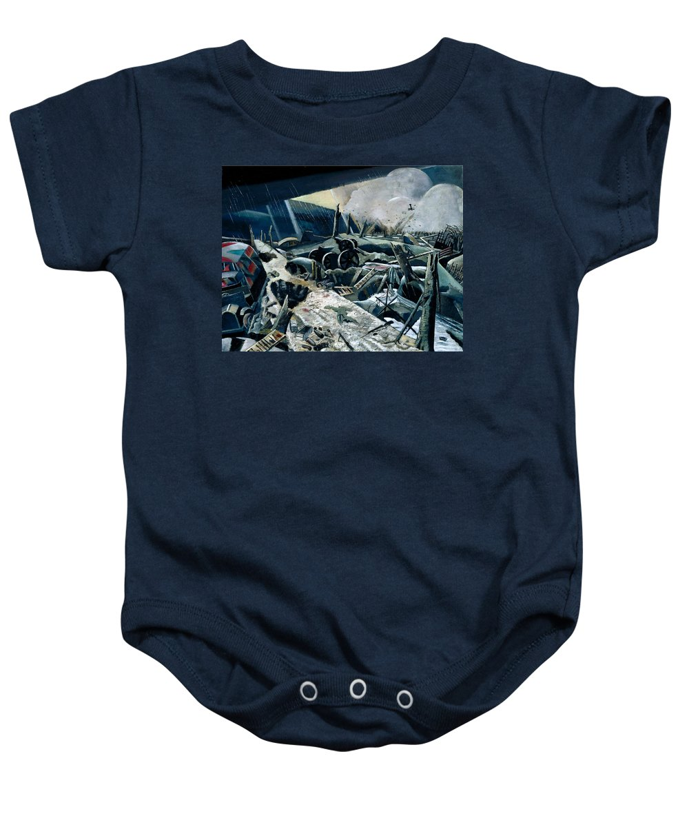 David Bomberg Baby Onesie featuring the painting In The Hold by David Bomberg