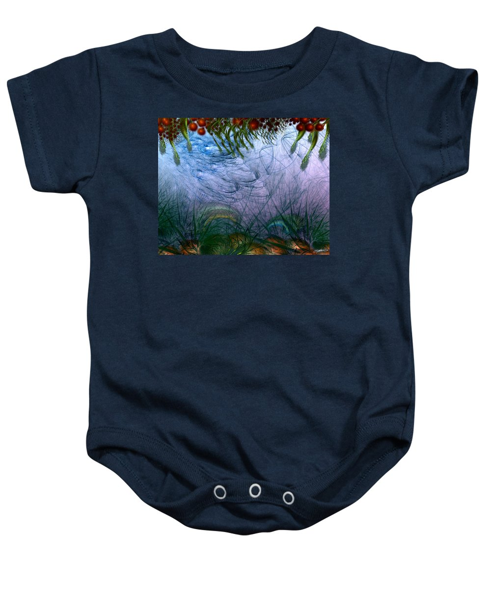 Abstract Baby Onesie featuring the digital art Incursion Into The Inversion by Casey Kotas