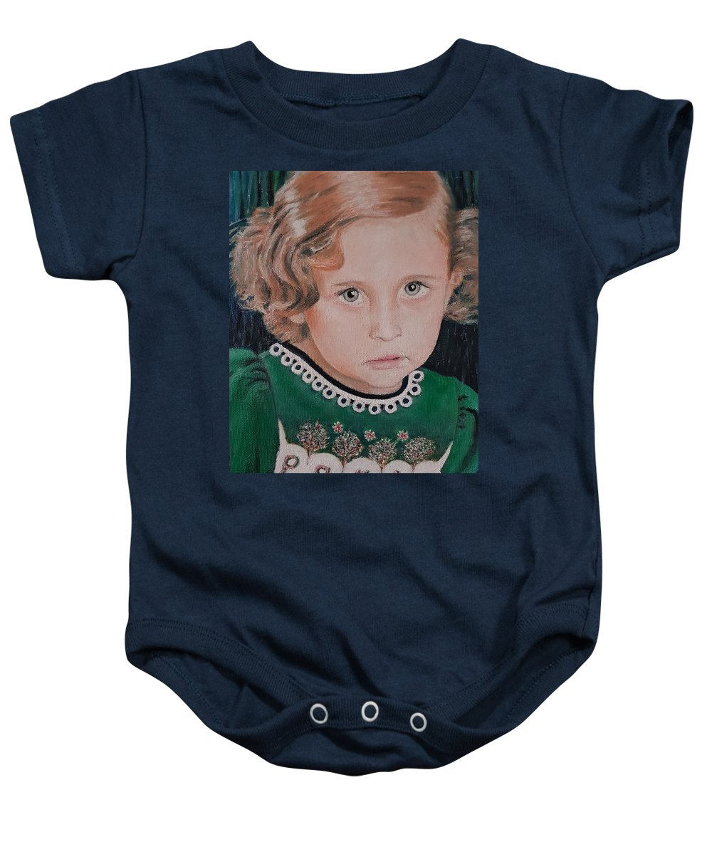 Paris Jackson Baby Onesie featuring the painting Innocence by Cassy Allsworth