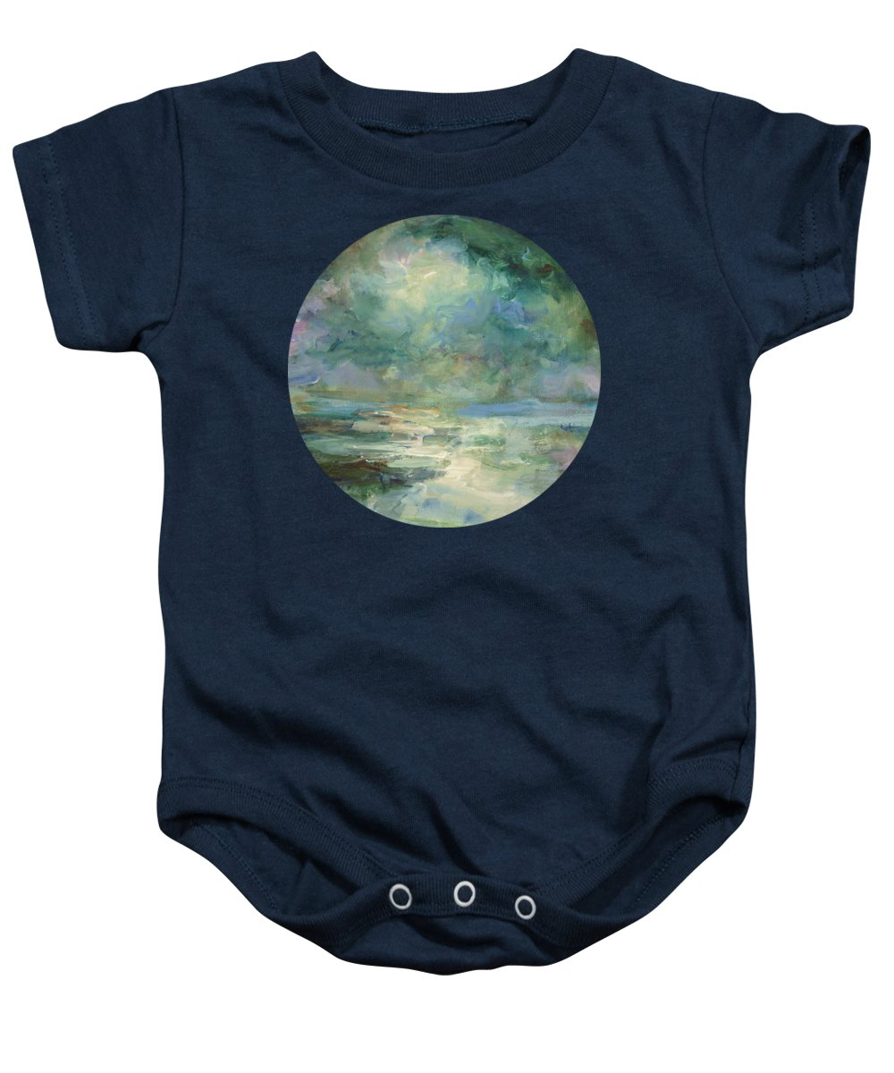 Impressionism Baby Onesie featuring the painting Into The Light by Mary Wolf