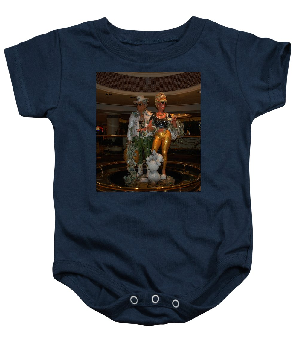 Its Vegas Baby Baby Onesie featuring the photograph Its Vegas Baby by Susanne Van Hulst