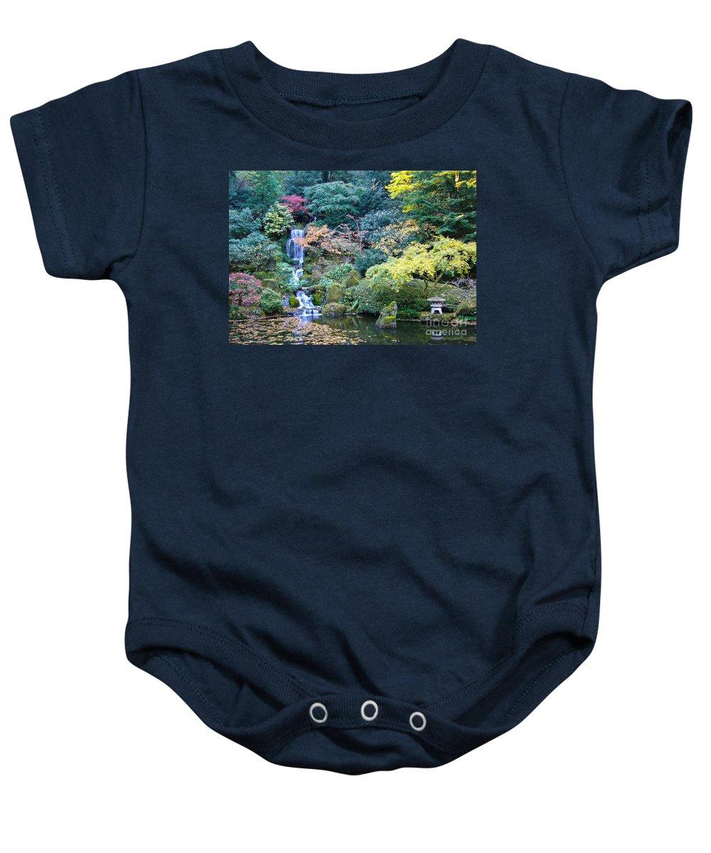 Japanese Garden Baby Onesie featuring the photograph Zen Japanese Garden by Sonal Dave