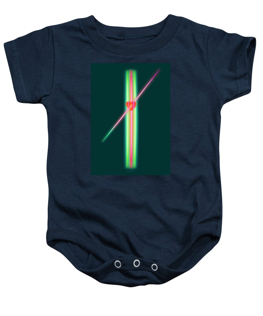 Slit Baby Onesie featuring the painting Jealous Love by Charles Stuart