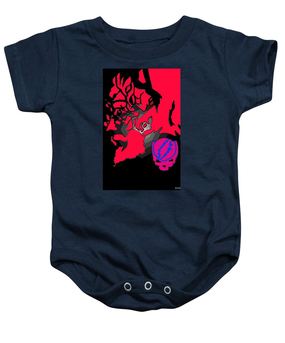 Jerry Garcia Framed Prints Baby Onesie featuring the drawing Jerry Garcia Speaks by Robert Margetts