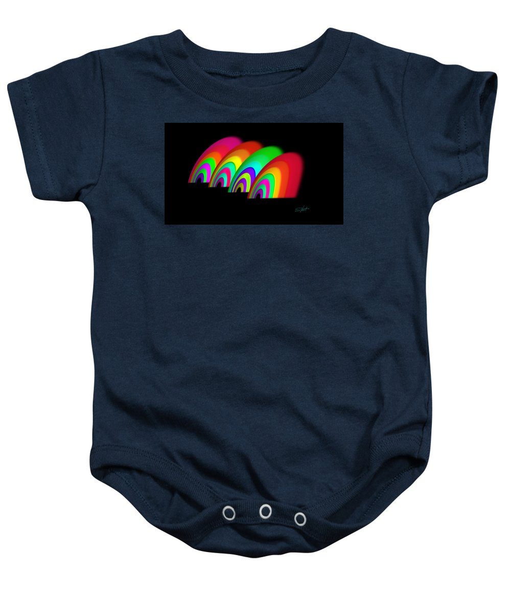 Targets Baby Onesie featuring the painting John Moores Liverpool Exhibition 12 by Charles Stuart