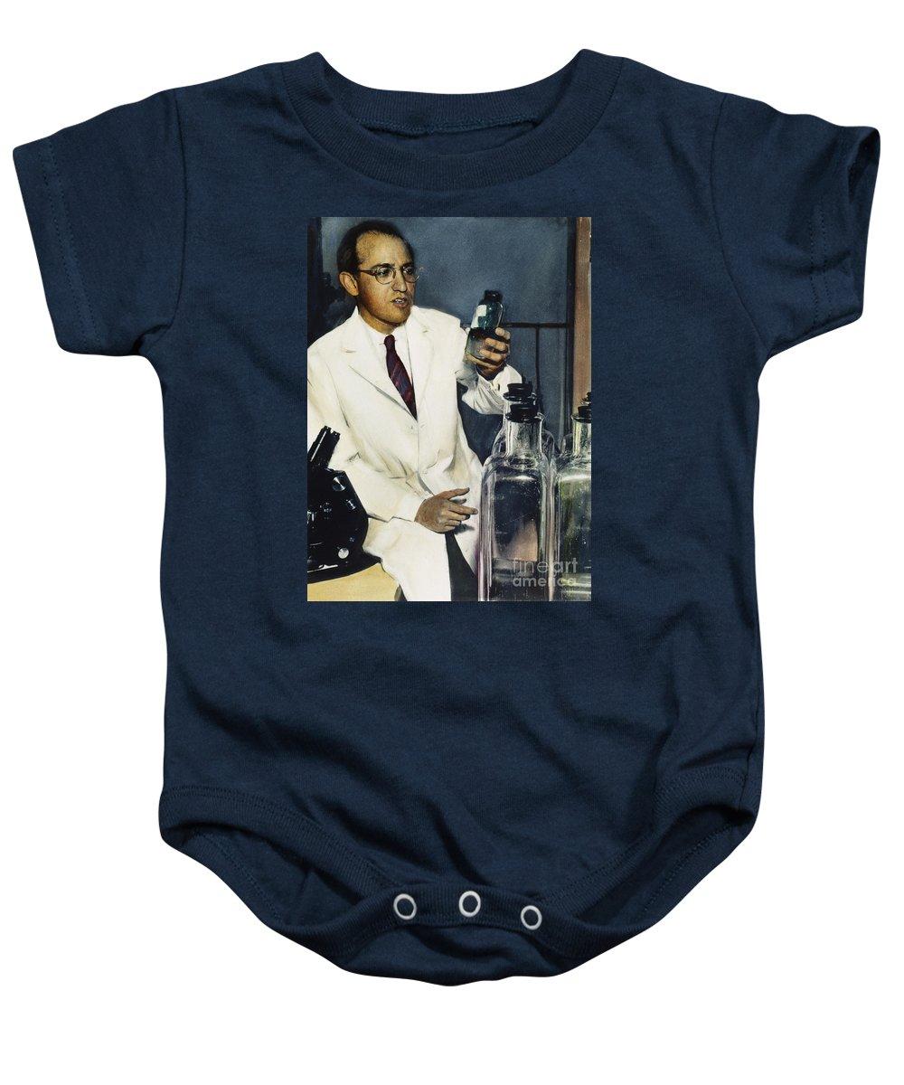 1950s Baby Onesie featuring the photograph Jonas Salk (1914-1995) by Granger