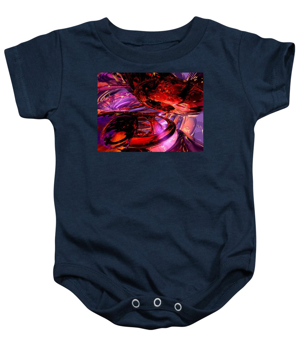 3d Baby Onesie featuring the digital art Jubilee Abstract by Alexander Butler