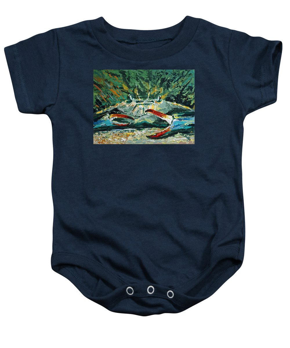 Acrylic Baby Onesie featuring the painting Jubilee Jewel by Suzanne McKee