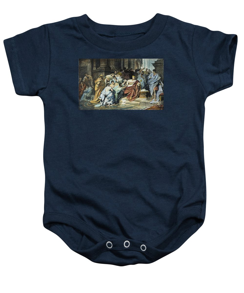 44 B.c Baby Onesie featuring the photograph Julius Caesar (100-44 B.c.) by Granger